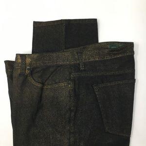 Ralph Lauren black jeans gold fleck straight leg